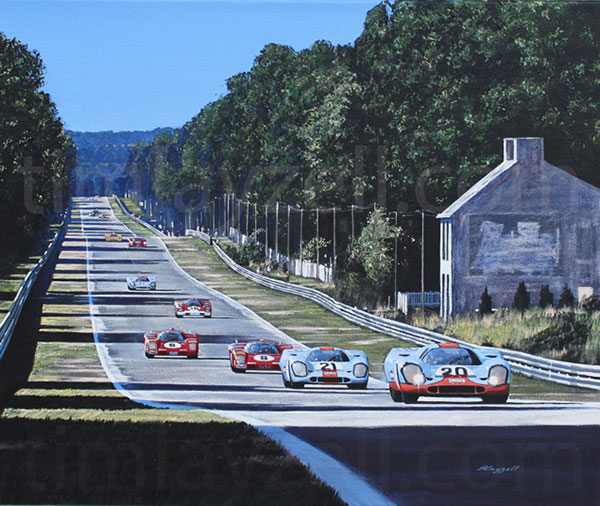 Bentley Mulsanne Lemans: Automotive Art Originals